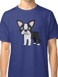 cute boston terrier Classic T-Shirt