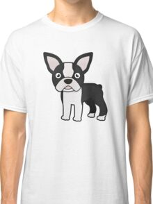 cute boston terrier Classic T-Shirt