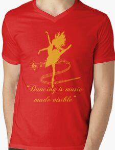 Dancing is music made visible Mens V-Neck T-Shirt