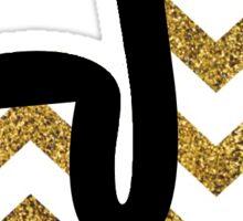 Glitter J Sticker
