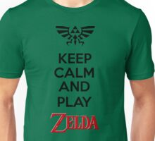 KEEP CALM AND PLAY ZELDA Unisex T-Shirt