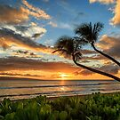 Sunset In Kaanapali by James Eddy