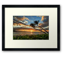 Sunset In Kaanapali Framed Print