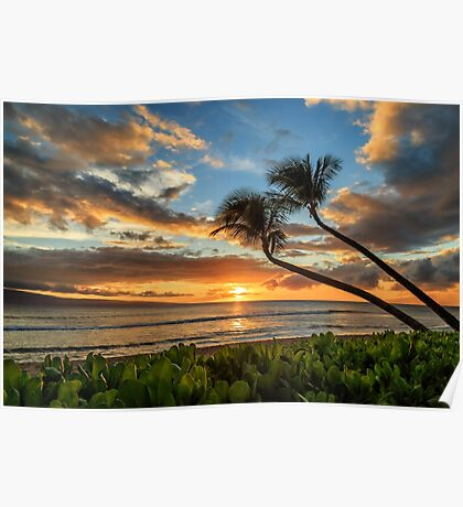 Sunset In Kaanapali Poster