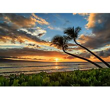 Sunset In Kaanapali Photographic Print