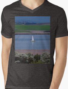 **Yacht in Tasmania** Mens V-Neck T-Shirt