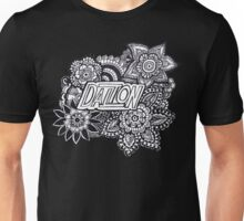 Dalton zentangle flowers Unisex T-Shirt