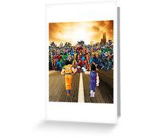 Saiyans vs Marvel Heroes  Greeting Card