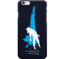 """""""For a minute there, I lost myself"""" - Radiohead - light iPhone Case/Skin"""