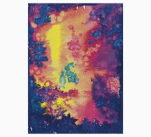 deep space - tie dye watercolor abstract  Kids Clothes