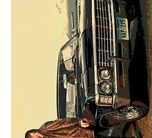 Dean + Impala by winter-soldier