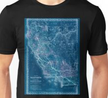 0391 Railroad Maps Map of California to accompany printed agreement of S O Houghton as to the rights of the Southern Pacific R R Co of Cal to government lands under Acts of Inverted Unisex T-Shirt