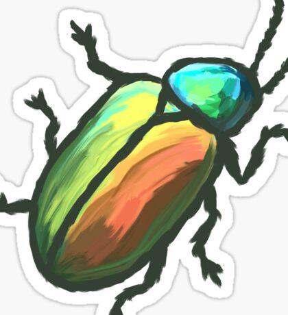 Rainbow Beetle Sticker