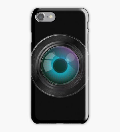 Lens with an eye iPhone Case/Skin