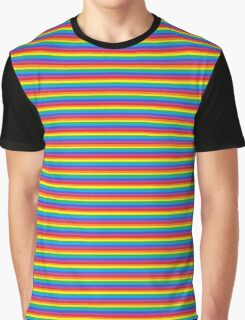 Lines, Lines and More Lines! - Full On Rainbow Graphic T-Shirt