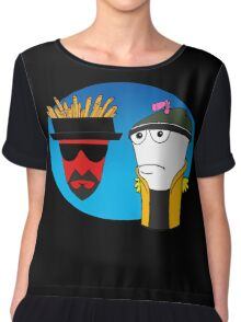 Aqua Teen Breaking Bad Chiffon Top