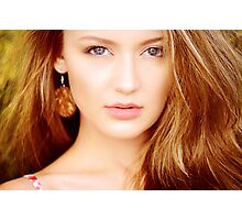 Photo of young beautiful woman Photographic Print