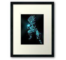 SSJ2 Goku Kamehameha Framed Print