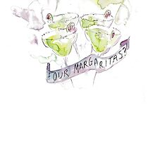Arctic Monkeys Four Margaritas  by Angharad Jones