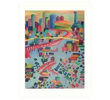 Skyline in the Flood Art Print