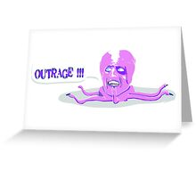 The Mighty Boosh - This is an outrage! - Tony Harrison Greeting Card