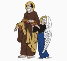 ST MATHEW THE APOSTLE WITH ANGEL Kids Tee