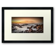 Golden Rise Framed Print