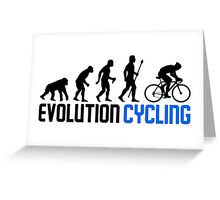 Evolution Cycling Greeting Card
