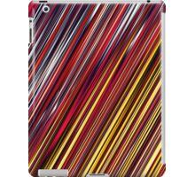 Color and Form Abstract - Striped Line Rain of Reds and Yellows iPad Case/Skin