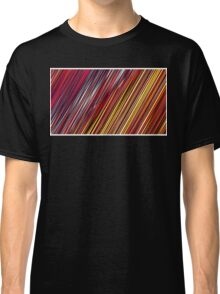 Color and Form Abstract - Striped Line Rain of Reds and Yellows Classic T-Shirt