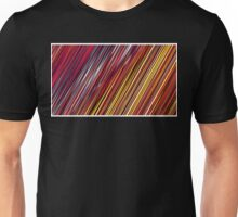 Color and Form Abstract - Striped Line Rain of Reds and Yellows Unisex T-Shirt