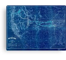 0409 Railroad Maps The Union Pacific system of railroad and steamship lines Inverted Canvas Print