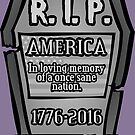 RIP America Gravestone by GrimDork