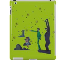 A Bear Contemplates John Muir who Contemplates Teddy Roosevelt, Big Foot and Half Dome from Glacier Point iPad Case/Skin