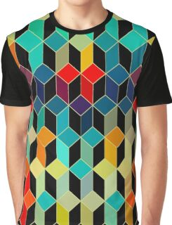 Colorful Geometric pattern With Bright Colots Graphic T-Shirt