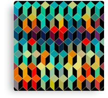 Colorful Geometric pattern With Bright Colots Canvas Print