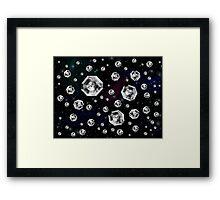 Diamonds in Space (NASA moon) Framed Print