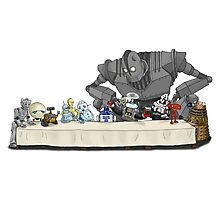 the Last Supper...with ROBOTS Photographic Print