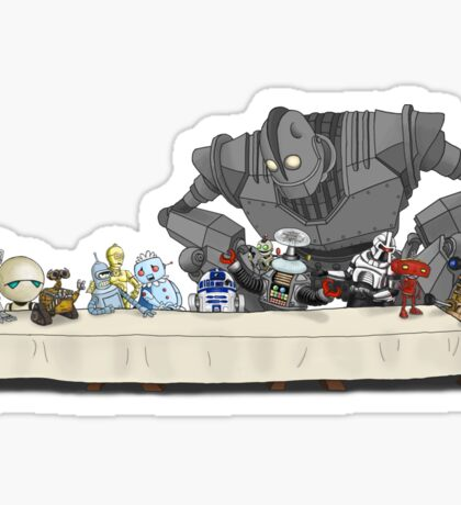 the Last Supper...with ROBOTS Sticker
