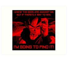 Determined Goku Art Print