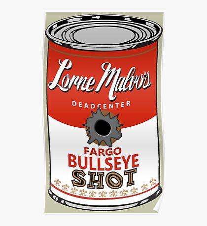 Fargo Soupcan Bullet Hole Poster