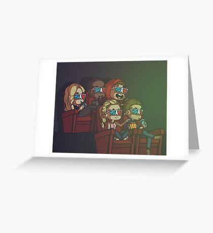 Team Arrow Goes: Movies! Greeting Card