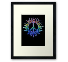 Peace Sign Sun Framed Print