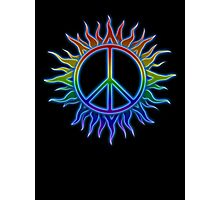 Peace Sign Sun Photographic Print