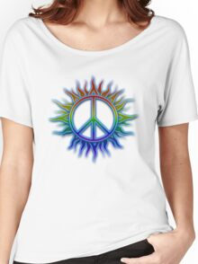 Peace Sign Sun Women's Relaxed Fit T-Shirt