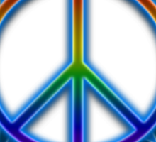 Peace Sign Sun Sticker