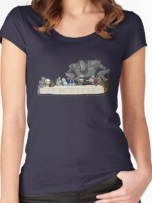 the Last Supper...with ROBOTS Women's Fitted Scoop T-Shirt