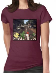 Final Fantasy Abbey Road Womens Fitted T-Shirt