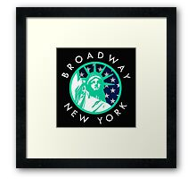 Broadway, New York City Framed Print