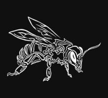 """Bee Spirit"" ver.2 - Surreal abstract tribal bee totem animal Kids Tee"